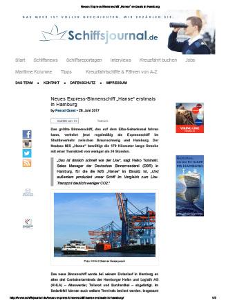 2007.HANSE-Schiffsjournal28.06.2017